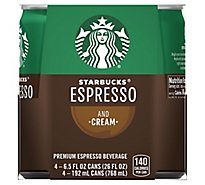 Starbucks Espresso Beverage Double Shot & Cream - 4-6.5 Fl. Oz.