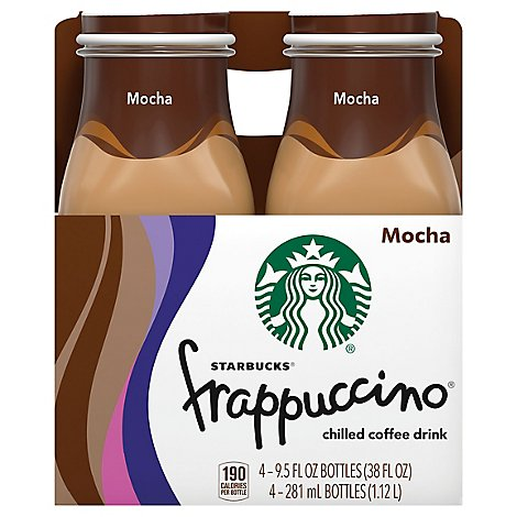 Starbucks frappuccino Coffee Drink Chilled Mocha - 4-9.5 Fl. Oz.