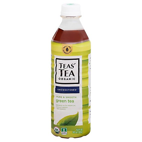 TEAS TEA Unsweetened Green Tea Pure & Smooth - 16.9 Fl. Oz.