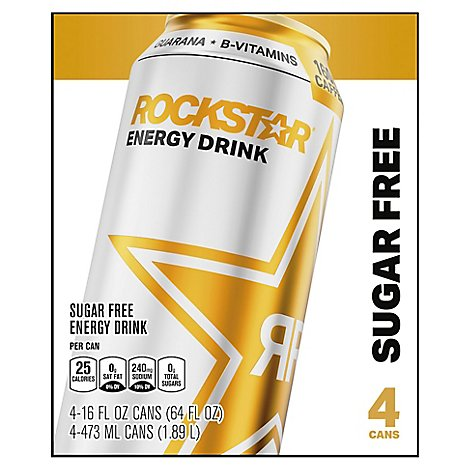 Rockstar Energy Drink Sugar Free - 4-16 Fl. Oz.