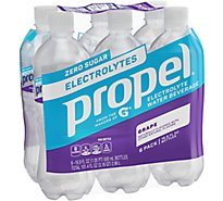 Propel Water Beverage with Electrolytes & Vitamins Grape - 6-16.9 Fl. Oz.
