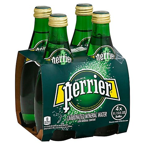 Perrier Carbonated Mineral Water - 4-11.15 Fl. Oz.