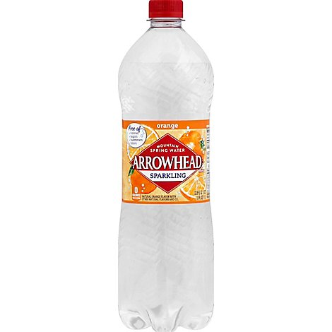 Arrowhead Spring Water Mountain Sparkling Mandarin Orange - 33.8 Fl. Oz.