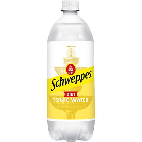 Schweppes Tonic Water Diet - 33.8 Fl. Oz.