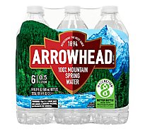 Arrowhead 100% Mountain Spring Water - 6-16.9 Fl. Oz.