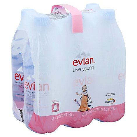 evian Spring Water Natural - 6-1.05 Quart