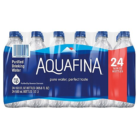 Aquafina Purified Drinking Water - 24-16.9 Fl. Oz.
