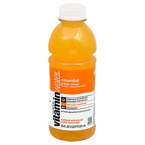 vitaminwater Water Beverage Nutrient Enhanced Essential Orange Orange - 20 Fl. Oz.
