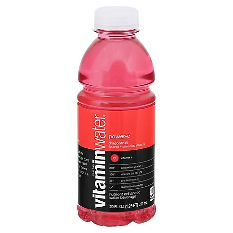 vitaminwater Water Beverage Nutrient Enhanced Power C Dragonfruit - 20 Fl. Oz.