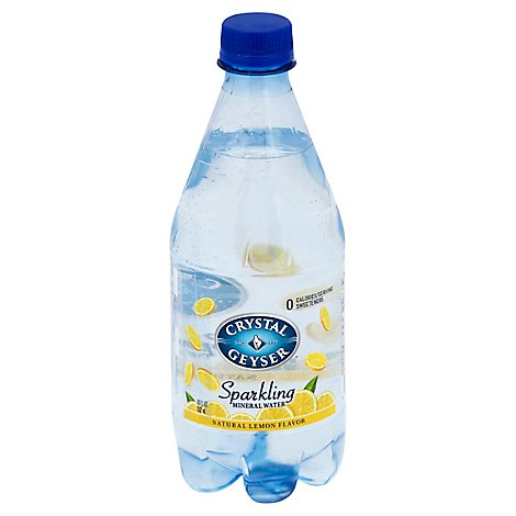 Crystal Geyser Mineral Water Sparkling Natural Lemon Flavor - 4-18 Fl. Oz.