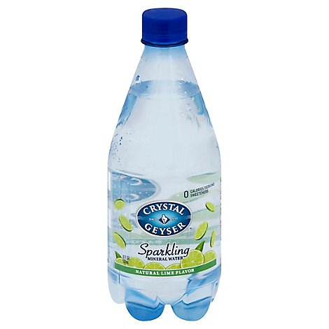 Crystal Geyser Mineral Water Sparkling Natural Lime Flavor - 4-18 Fl. Oz.