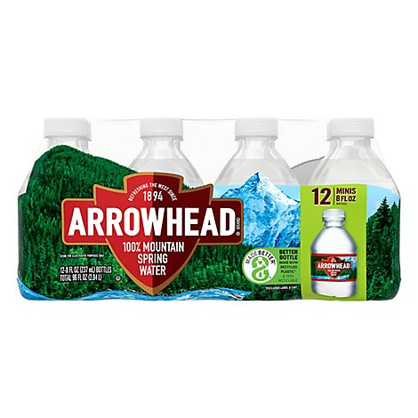 Arrowhead 100% Mountain Spring Water - 12-8 Fl. Oz. (limit 4)
