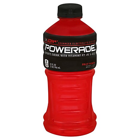 POWERADE Sports Drink Fruit Punch - 32 Fl. Oz.