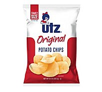 Utz Potato Chips Original Family Size - 9.5 Oz