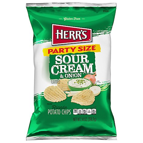 Herrs Potato Chips Sour Cream & Onion Value Size - 18 Oz