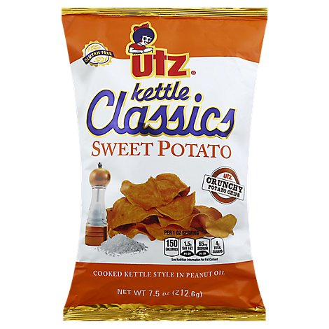 Utz Potato Chips Kettle Classics Sweet Potato - 7.5 Oz