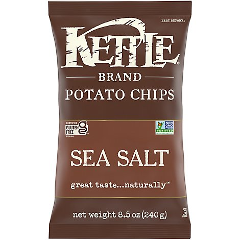Kettle Potato Chips Sea Salt - 8.5 Oz