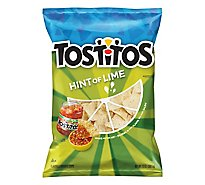 TOSTITOS Tortilla Chips Hint of Lime Party Size - 13 Oz