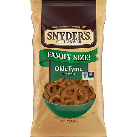 Snyders of Hanover Pretzels Olde Tyme Family Size - 16 Oz