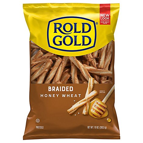 ROLD GOLD Pretzels Braided Honey Wheat - 10 Oz