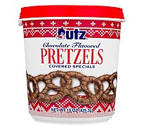 Utz Pretzels Covered Specials Chocolate Flavored - 15 Oz