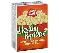 Jolly Time 100 Calorie Healthy Pop Microwave Popcorn Butter Mini Bags - 4-1.2 Oz