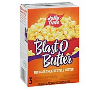 JOLLY TIME Popcorn Blast O Butter Microwave Ultimate Theatre Style Butter - 3-3.2 Oz