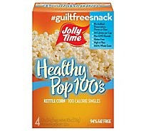 JOLLY TIME Microwave Popcorn Healthy Pop 100 Calorie Butter Mini Bags - 4-1.2 Oz