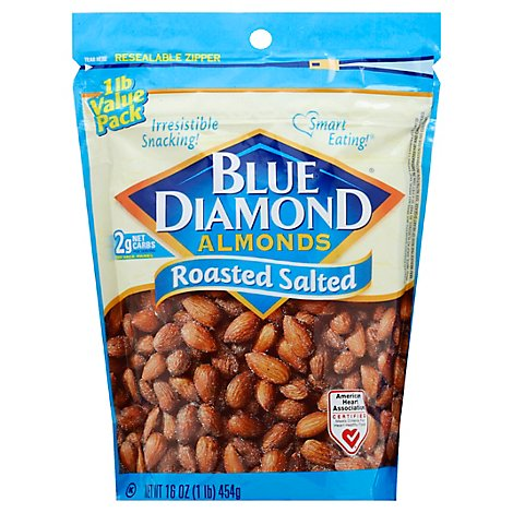 Blue Diamond Almonds Roasted Salted - 16 Oz