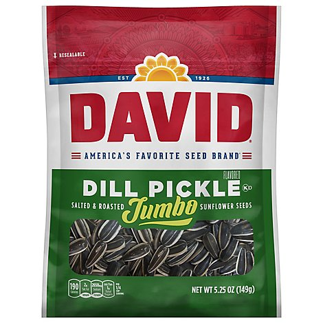 DAVID Sunflower Seeds Jumbo Roasted & Salted Dill Pickle - 5.25 Oz