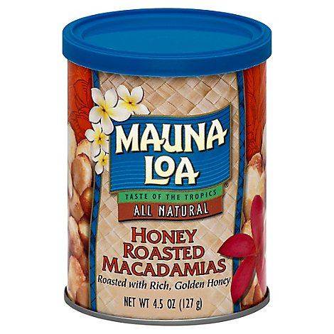 Mauna Loa Macadamias Honey Roasted - 4.5 Oz