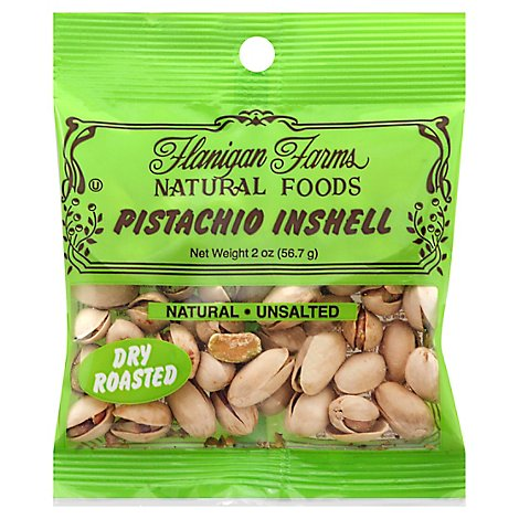 Flanigan Farms Pistachio Nuts Dry Roasted - 2 Oz