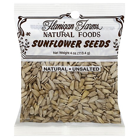 Flanigan Farms Sunflower Seeds Natural Unsalted - 4 Oz