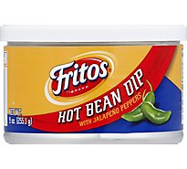 Frito Lay Dip Hot Bean with Jalapeno Peppers - 9 Oz