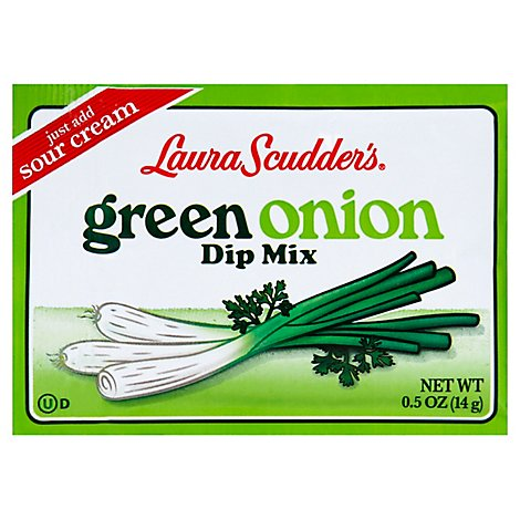Laura Scudders Dip Mix Green Onion Wrapper - 0.5 Oz