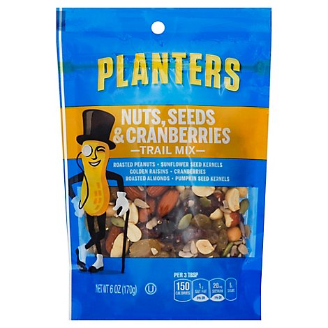 Planters Trail Mix Nuts Seeds & Cranberries - 6 Oz