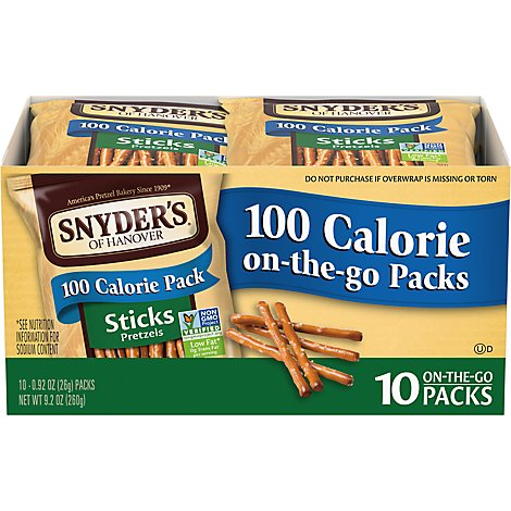 Snyders of Hanover Pretzel Sticks On the Go Packs - 10-0.92 Oz