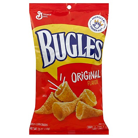 Bugles Snacks Corn Crispy Original - 7.5 Oz