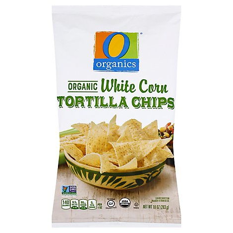 O Organics Organic Tortilla Chips White Corn - 10 Oz