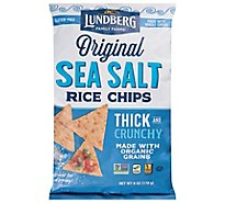 Lundberg Rice Chips Sea Salt - 6 Oz