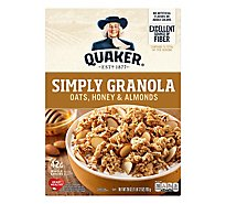Quaker Simply Granola Oats Honey & Almonds - 28 Oz