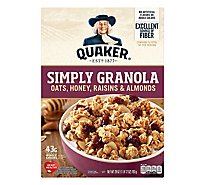 Quaker Simply Granola Oats Honey Raisins & Almonds - 28 Oz