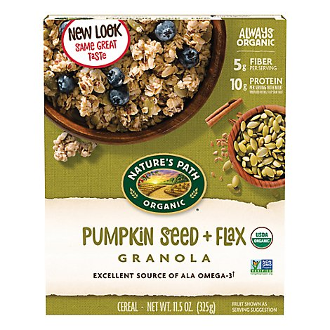 Natures Path Organic Flax Plus Cereal Pumpkin Flax Granola - 11.5 Oz