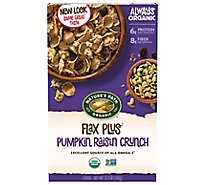 Natures Path Organic Flax Plus Cereal Pumpkin Raisin Crunch - 12.35 Oz
