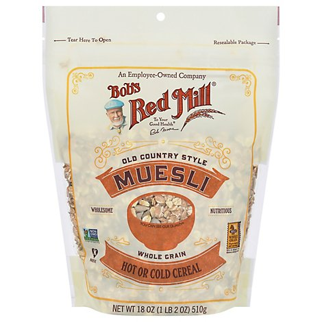Bobs Red Mill Cereal Muesli Hot Cold Old Country Style - 18 Oz