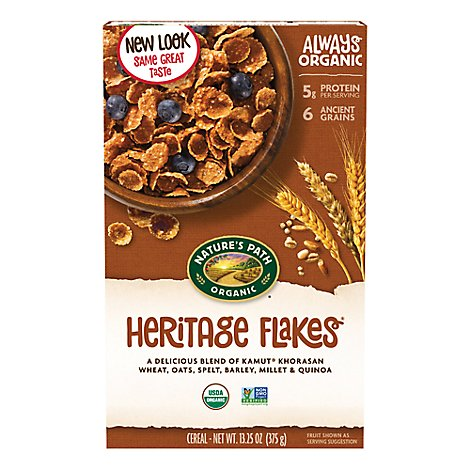 Natures Path Organic Cereal Heritage Flakes - 13.25 Oz