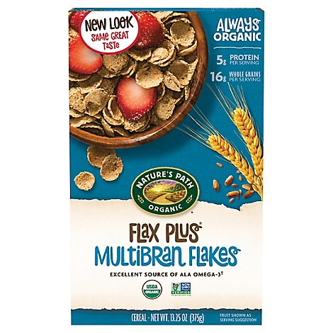 Natures Path Organic Cereal Flax Plus Multibran Flakes - 13.25 Oz