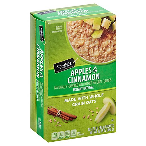 Signature SELECT Oatmeal Instant Apples & Cinnamon - 10-1.23 Oz