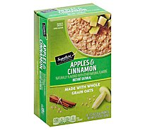 Signature Kitchens Oatmeal Instant Apples & Cinnamon - 10-1.23 Oz