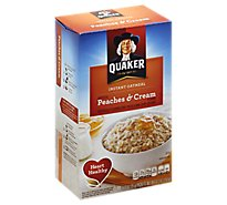 Quaker Oatmeal Instant Peaches & Cream Flavors - 10-1.23 Oz